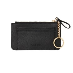 Fine leather travel pouch in black