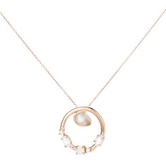 Anna pendant necklace in rose gold plate
