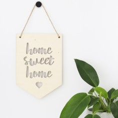 Home sweet home plywood banner