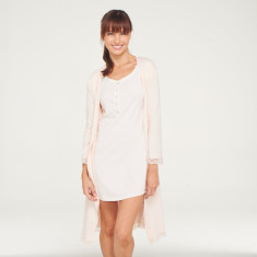 Organic cotton robe in pink blush