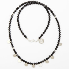 Black onyx disc necklace
