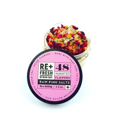 Pink Himalayan Salts with Natural Fragrant Oils & Native Flowers