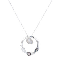 Anna pendant necklace in silver