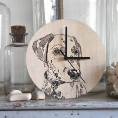 Personalised Pet Portrait Clocks