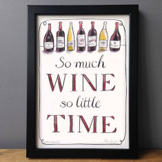 So much wine, so little time humorous print