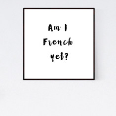 French typography print