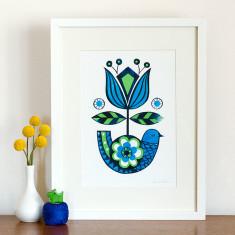 Bowerbird print