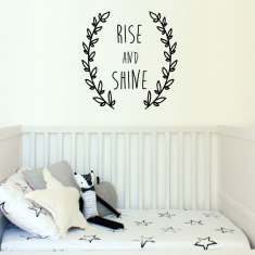 Rise and shine wreath wall decal (various colours)