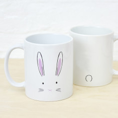 Easter bunny face mug