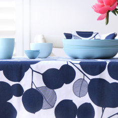 Tablecloth in Eucalyptus Mood Indigo