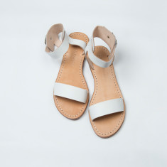 Calvi leather sandals in white