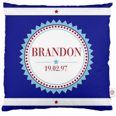 Personalised boys' monogram cushion cover (various designs)