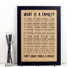 What is a family? Typographic Poem Print
