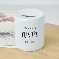 Personalised travelling holiday money box