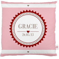 Personalised girls' monogram cushion covers (various colours)