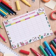 Personalised Homework Planner - Summer Party