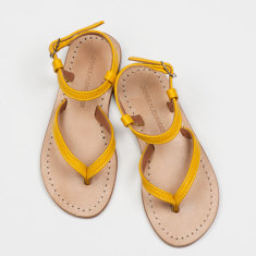 Siena girls' sandals in yellow leather