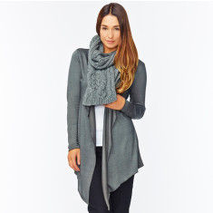 Waterfall cardigan in charcoal
