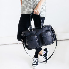 Bandits and Breakaways leather bag in black