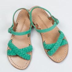 Santorini Sandal Mint Suede