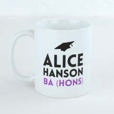 Personalised Graduation Name And Letters Mug