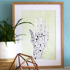 Floral hand archival art print