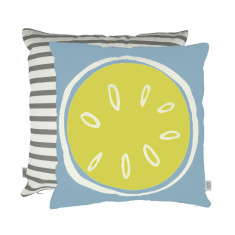 Summer citrus cushion in lemon