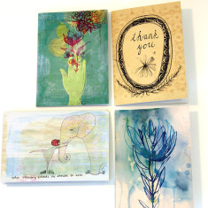 Thank you greeting cards (pack of 4)