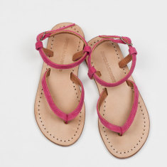 Siena girls' sandals candy pink suede