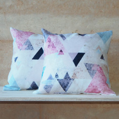 Triangle Linen Cushion