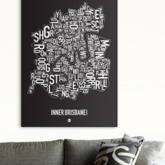 Brisbane canvas print (various colours)