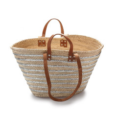 Classic double handled basket with silver sequins