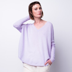 Batwing loose fit cashmere pullover