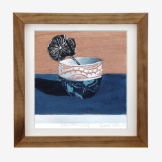 Framed Fiona Roderick 'Nasturtium Leaf' print