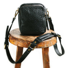 Law of the wild bubble leather bag in black