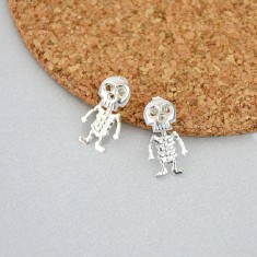 Sterling Silver Skeleton Studs