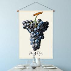 Pinot Noir Linen Wall Hanging