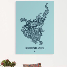 Northern Beaches Sydney canvas print (various colours)