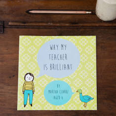 Why my teacher is brilliant personalised book
