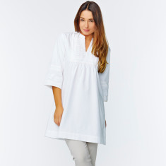 Cotton kaftan in white