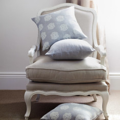 French Louis-style armchair in antique white