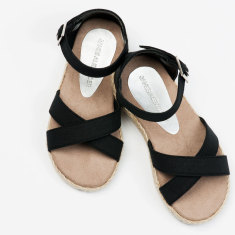 Girls Black Espadrille