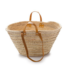 Classic double handle basket with gold sequins