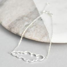 Sterling silver cloud bracelet