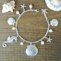 Beach babe sterling silver bracelet