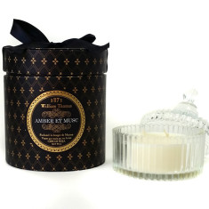 Ormolu amber et musc 3 wick candle