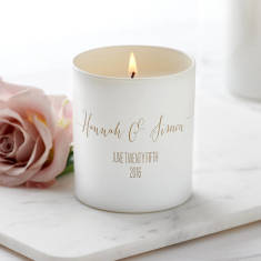 Personalised Glow Through Wedding Candle