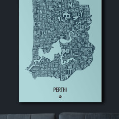 Perth canvas print (various colours)