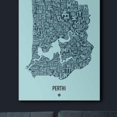 Perth canvas print (various colours)