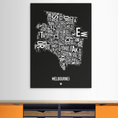 Melbourne canvas print (various colours)